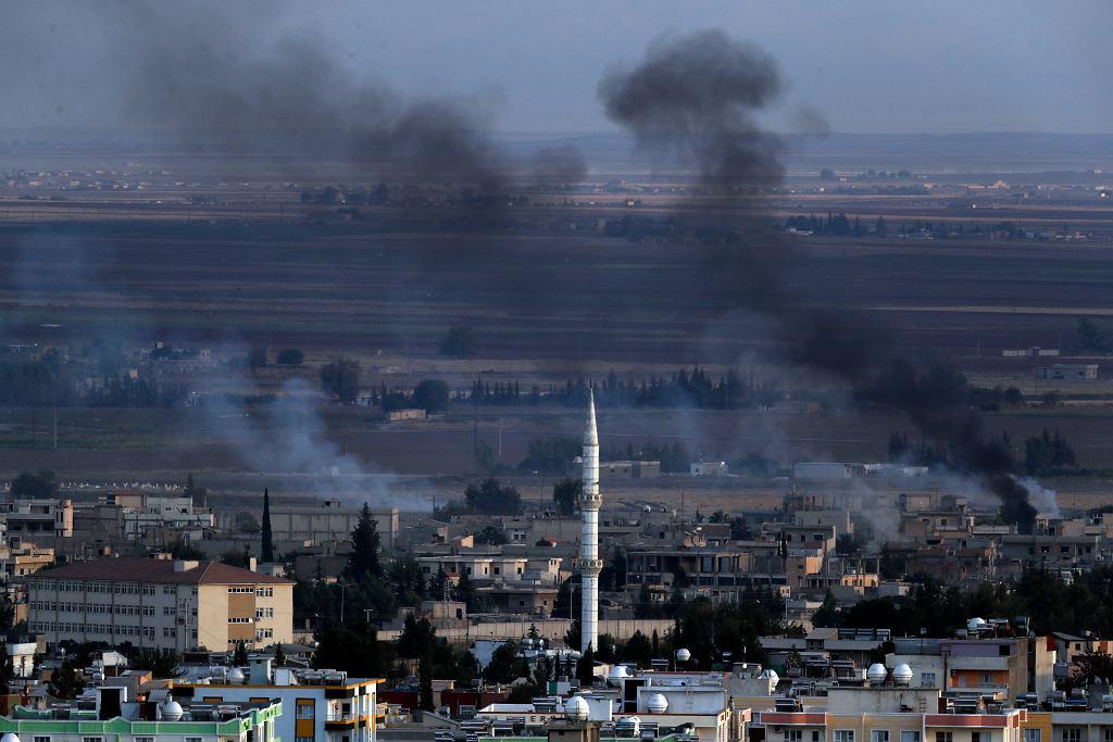 Ostrzał syryjskiego miasta Ceylanp?nar w Syrii