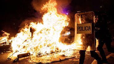 Protest separatystów w Barcelonie.