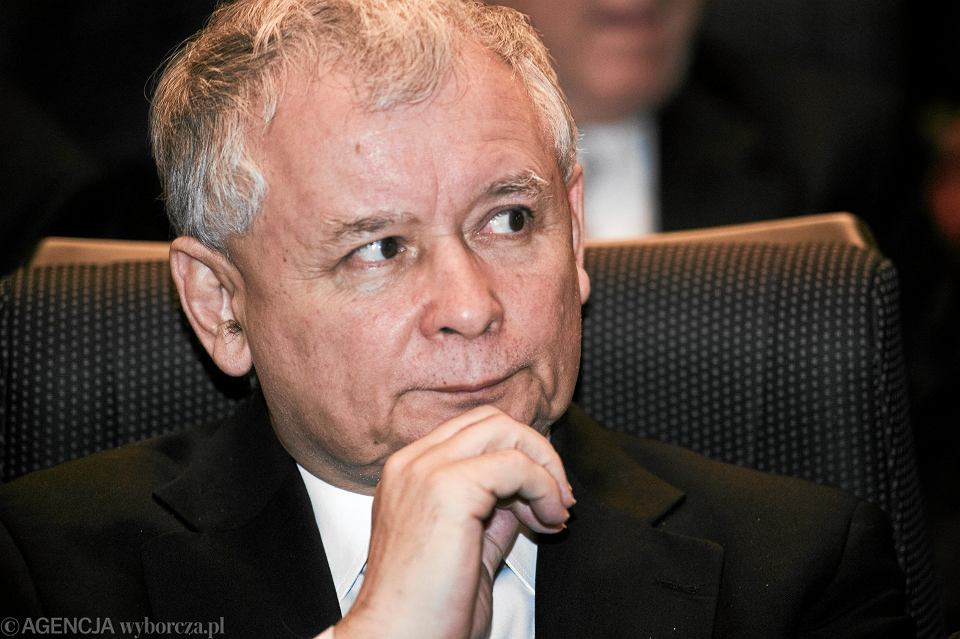 Jarosław Kaczyński na premierze filmu
