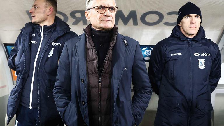 Adam Nawałka podczas meczu z Cracovią w Krakowie
