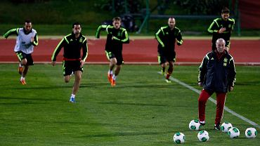 Vicente del Bosque na treningu