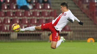 Mariusz Stępiński w barwach młodzieżowej reprezentacji Polski