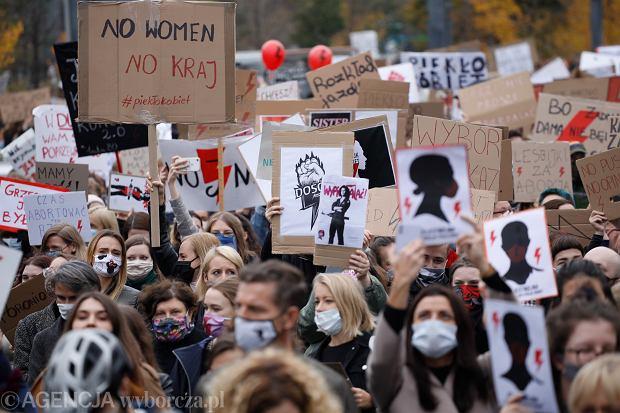 Protest Strajku Kobiet w Warszawie