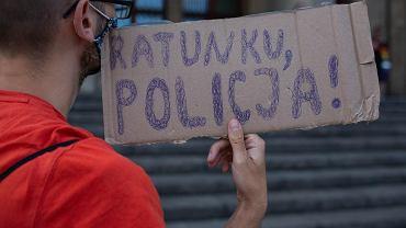 Protest przeciwko brutalnym interwencjom policji - sierpień 2021 (zdjęcie ilustracyjne)