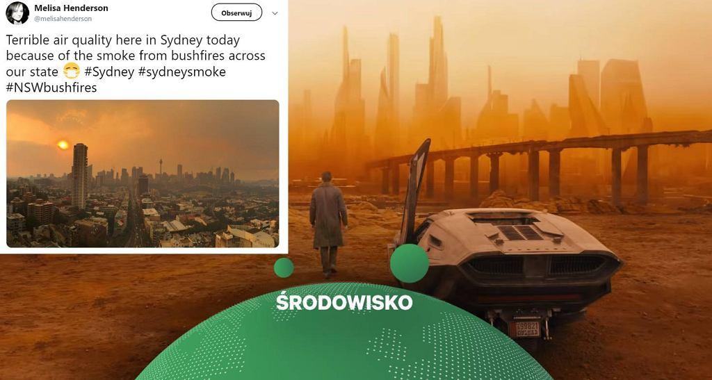 Mieszkańcy Australii porównują Sydney do kadrów z 'Blade Runnera 2049'