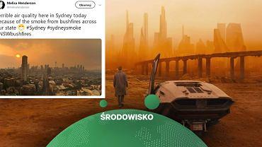 """Niebo w Sydney po pożarach jak z filmu """"Blade Runner 2049"""": Martwa przyszłość jest tutaj"""