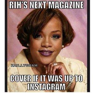Czy rzeczywiście tak chciałby ją widzieć Instagram? Fot. Rihanna/Instagram