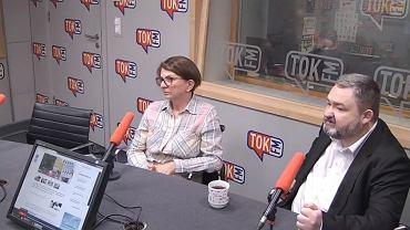 Wybory w TOK-u. Na zdjęciu: Julia Pitera i Karol Karski