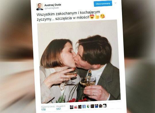 Andrzej Duda na walentynki