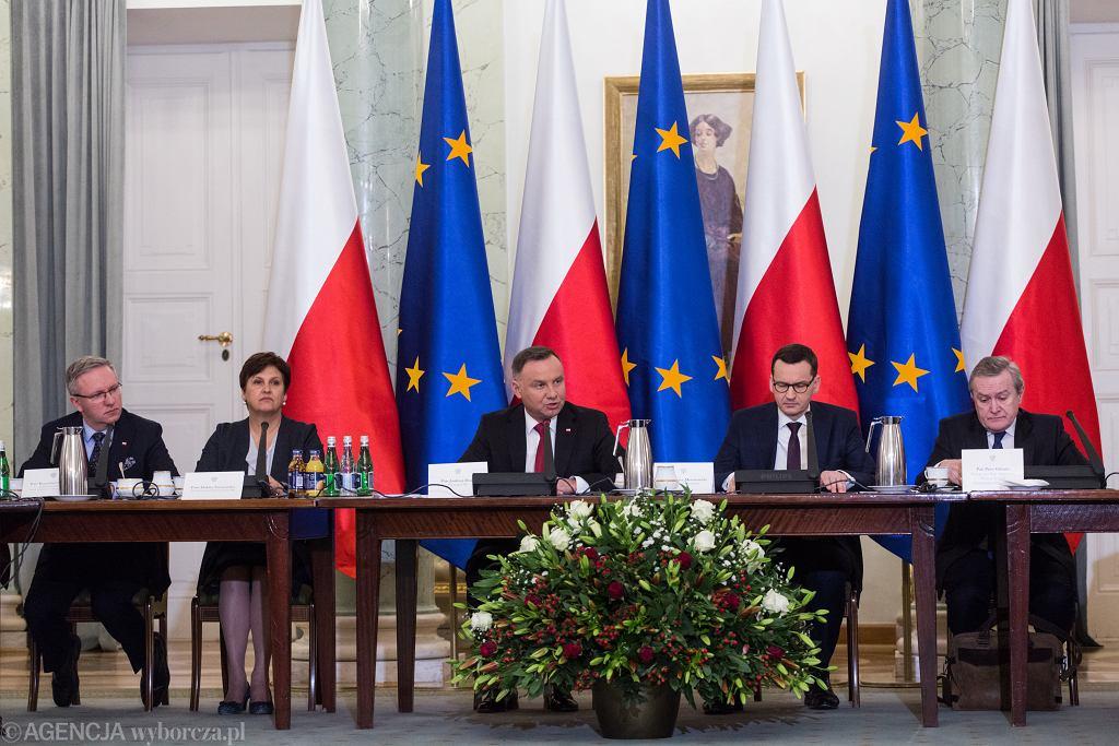Posiedzenie Rady Gabinetowej zwołanej przez Prezydenta RP Andrzeja Dudę. Warszawa, 7 stycznia 2020