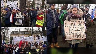 Protesty przed budynkiem Trybunału