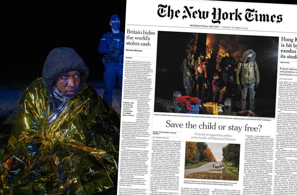 Sytuacja na granicy na okładce 'New York Times'