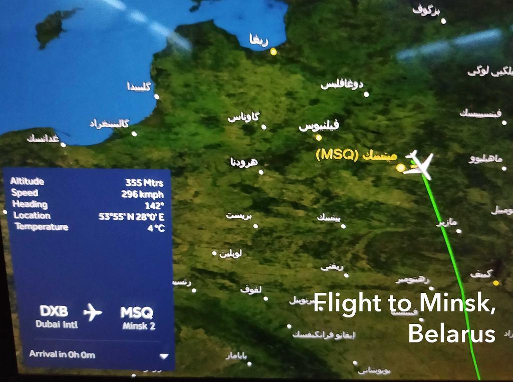 Lot do Mińska