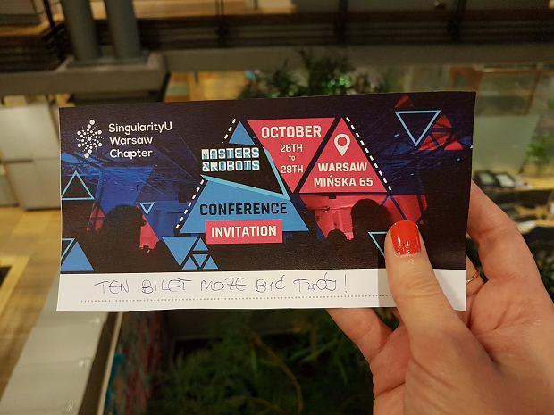 Mamy do rozdania 5 zaproszeń na Masters and Robots - jedyny tego typu new-tech event w Polsce