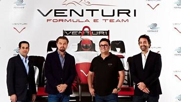 Leonardo di Caprio i kierownictwo zespołu Formuły E - Venturi Grand Prix