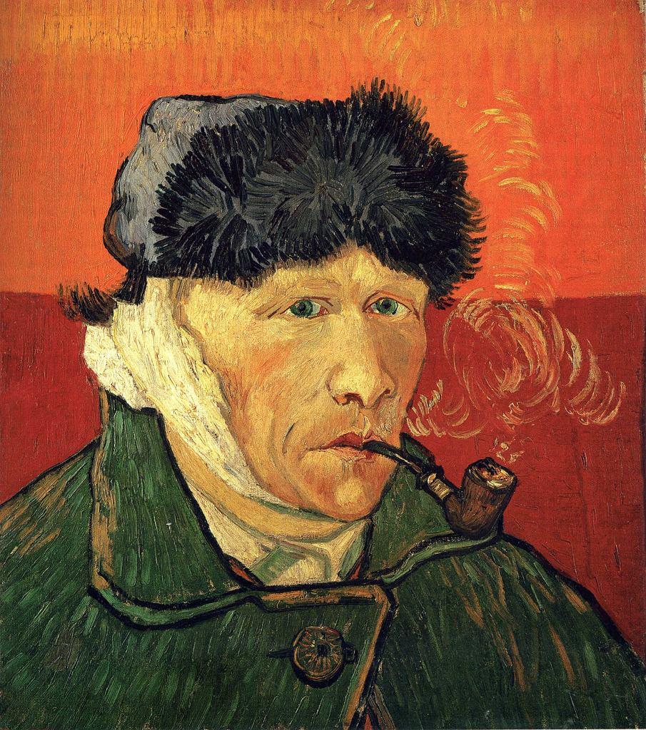 Vincent van Gogh. Autoportret z zabandażowanym uchem i fajką, 1889 / Wikimedia commons