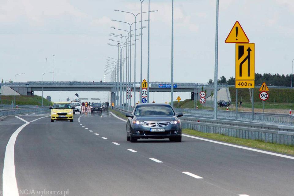 Dojazd do autostrady A2 pod Świebodzinem
