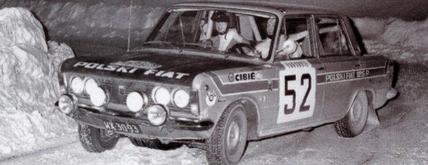 Polski Fiat 125p - Rajd Monte Carlo