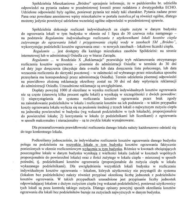 Pismo od SM Bródno