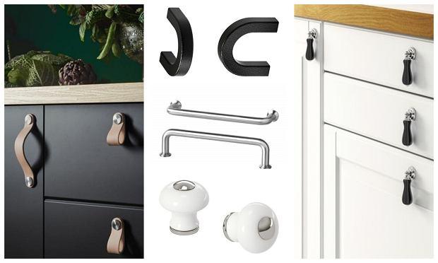 Różne typy uchwytów meblowych dostępnych w IKEA