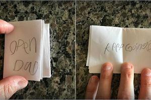 7-latka dała tacie liścik. To, co napisała chciałby przeczytać każdy rodzic