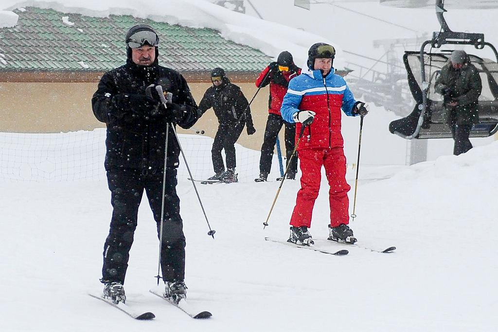 Władimir Putin i Aleksander Łukaszenka w Soczi, 22 lutego 2021 r.
