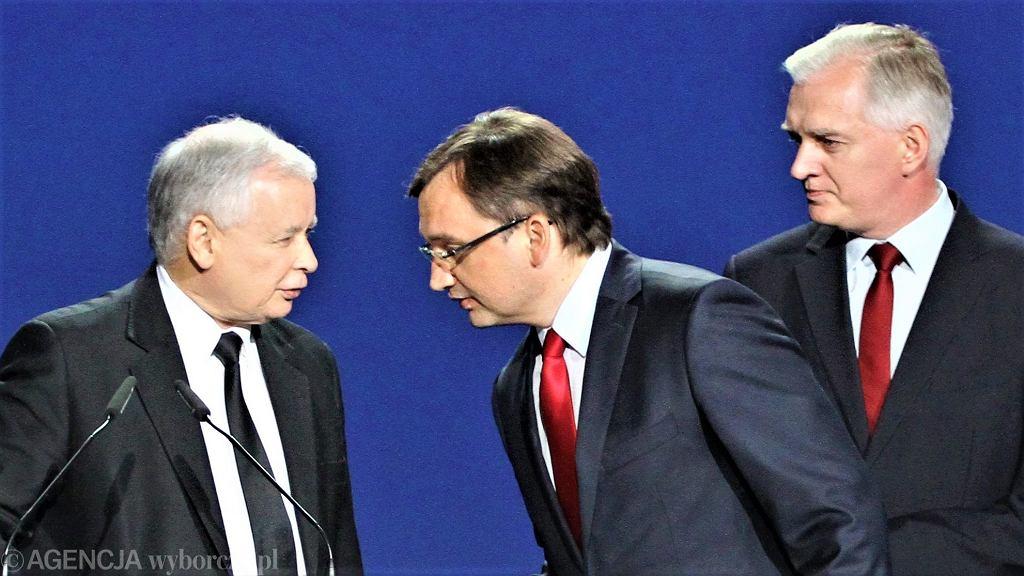 Jarosław Kaczyński, Zbigniew Ziobro, Jarosław Gowin, rok 2014
