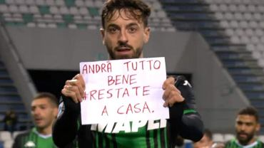 Francesco Caputo w meczu Sassuolo