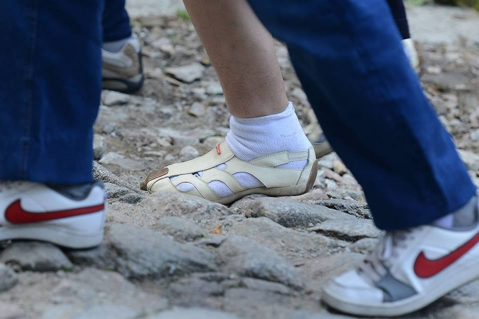 Zdjęcie numer 2 w galerii - Klapki, japonki, sandały. W tym turyści chodzą po Tatrach!