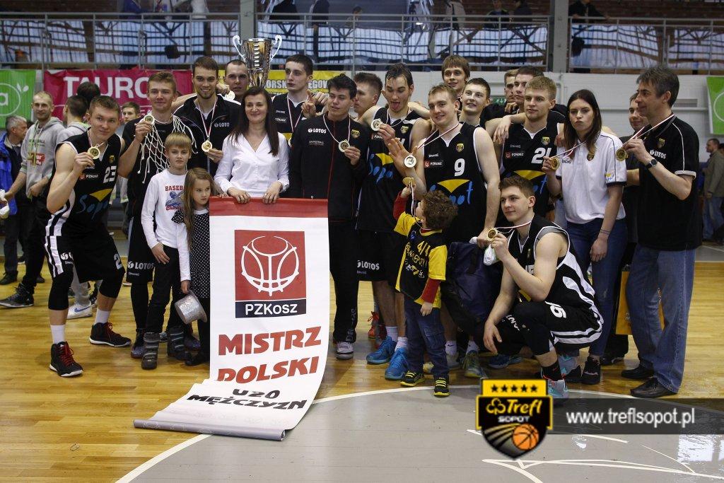 XPZKosz. Mistrzostwa Polski U-20. Trefl Sopot vs Asseco Gdynia. Mecz finalowy. 15.03.2015