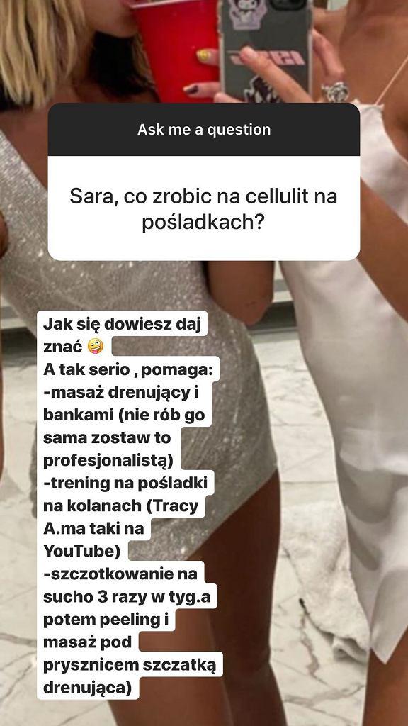 Sara Boruc - sposoby na cellulit