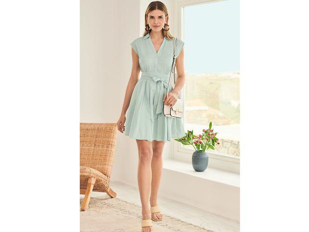 Orsay miętowa sukienka