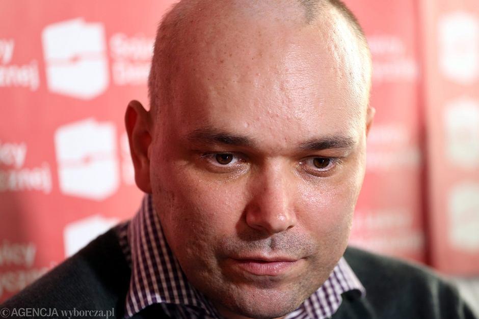 Tomasz Kalita w siedzibie SLD