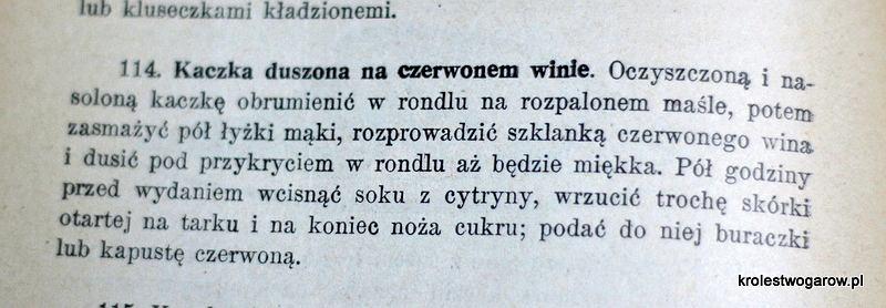 Przepis Marii Ochorowicz-Monatowej ('Uniwersalna Książka Kucharska' 1910)