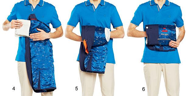 Akademia stylu: jak spakować walizkę, akademia stylu, moda męska, Szybkie składanie - Marynarka