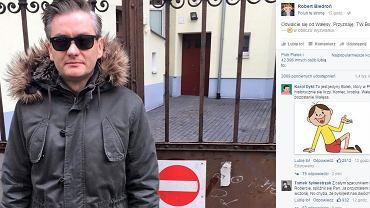 Facebookowy wpis Roberta Biedronia