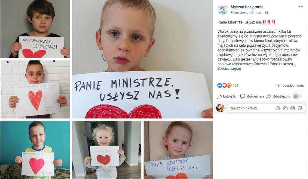 Dzieci apelują do ministra zdrowia