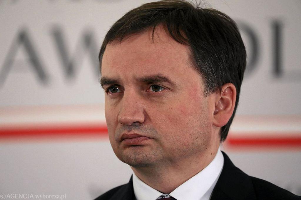 Minister sprawiedliwości Zbigniew Ziobro (fot. Sławomir Kamiński / Agencja Gazeta)