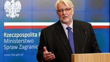 Były minister spraw zagranicznych Witold Waszczykowski.