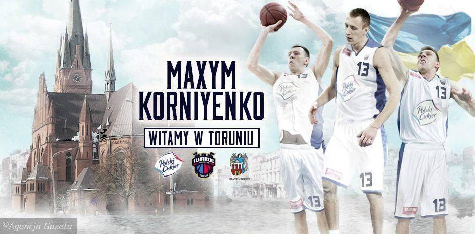 Infografika informująca o kontrakcie z Maxyem Korniyenko