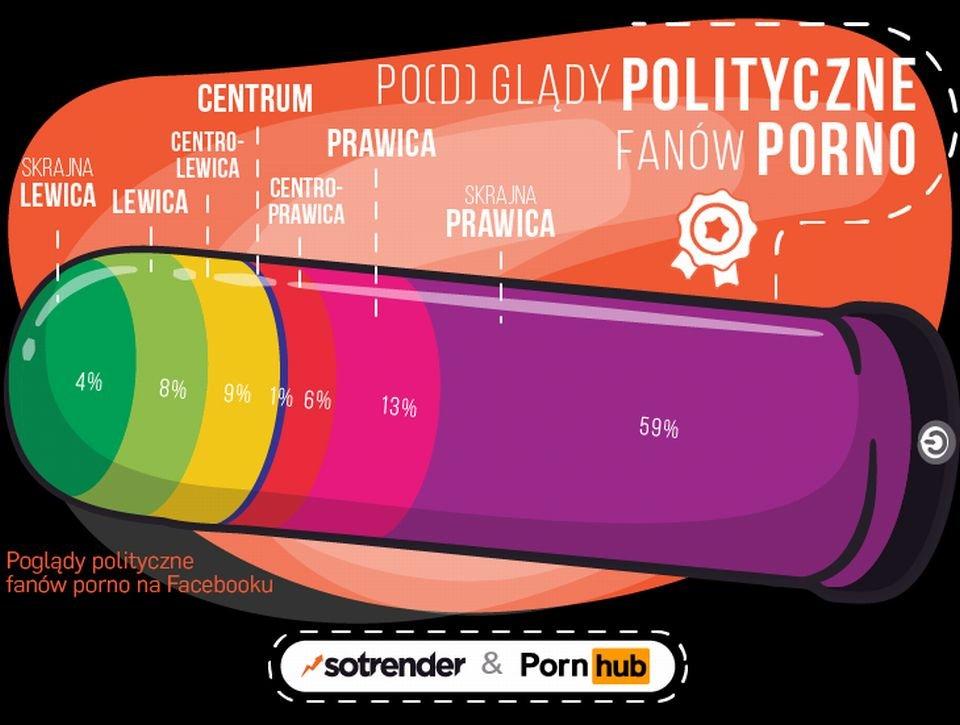 Poglądy polityczne osób oglądających porno