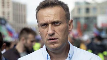 Aleksiej Nawalny podczas demonstracji w Moskwie, która odbyła się 20 lipca