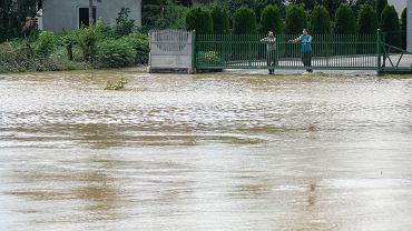 Kańczuga (woj. podkarpackie). Dzień po powodzi