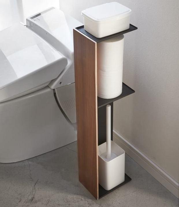 Praktyczny stojak na papier toaletowy i nie tylko