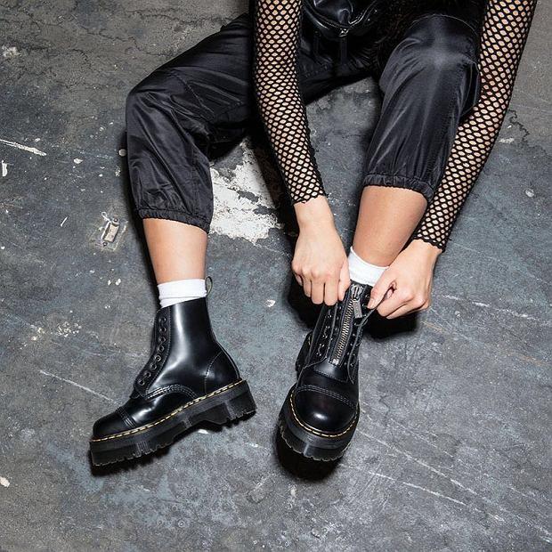 buty wiązane do kostki damskie jesień