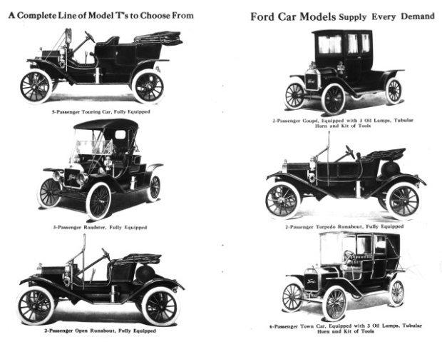 Ford Model T - paleta z roku 1911