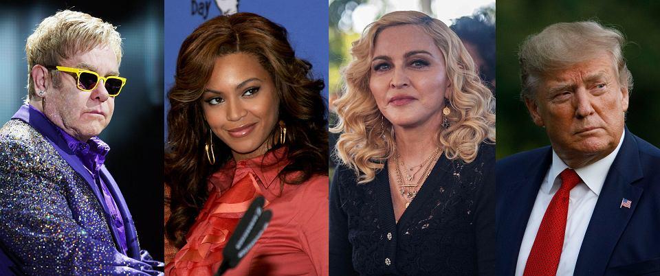 Elton John, Beyonce, Madonna, Donald Trump