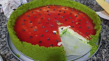 Ciasto arbuz. Zdjęcie ilustracyjne