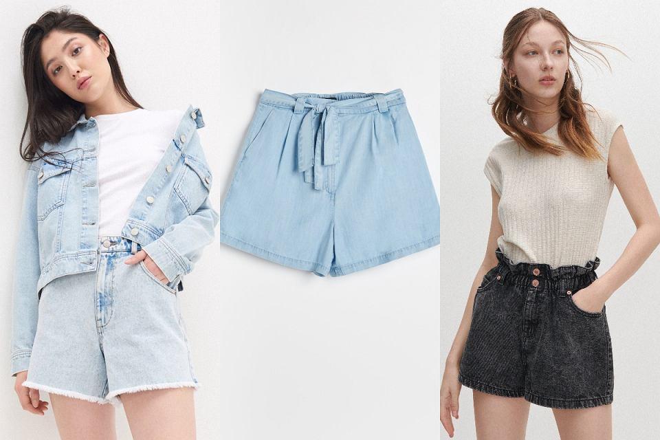 Szorty jeansowe z szerokimi nogawkami