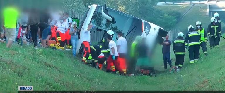 Wypadek polskiego autokaru na Węgrzech. Jedna osoba zginęła, są ranni